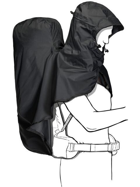 Jack Wolfskin Raincover Hoody - 65-85L negro